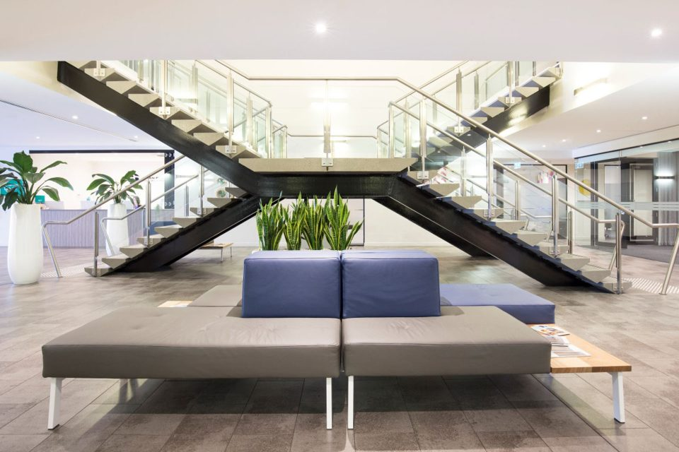 Indoor space with stairs