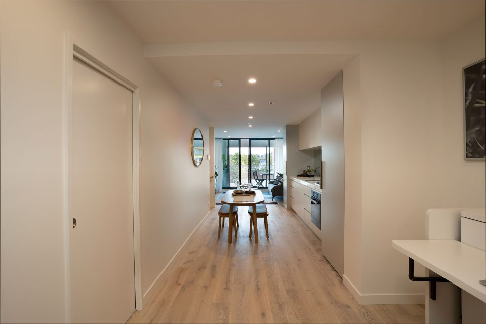 Entrance leading to dining and living areas